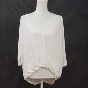 Charlotte Russe White Twist Blouse